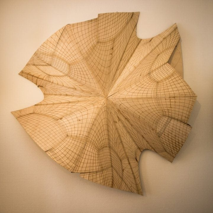 With the laser cutter you can easily create art and products from fabric